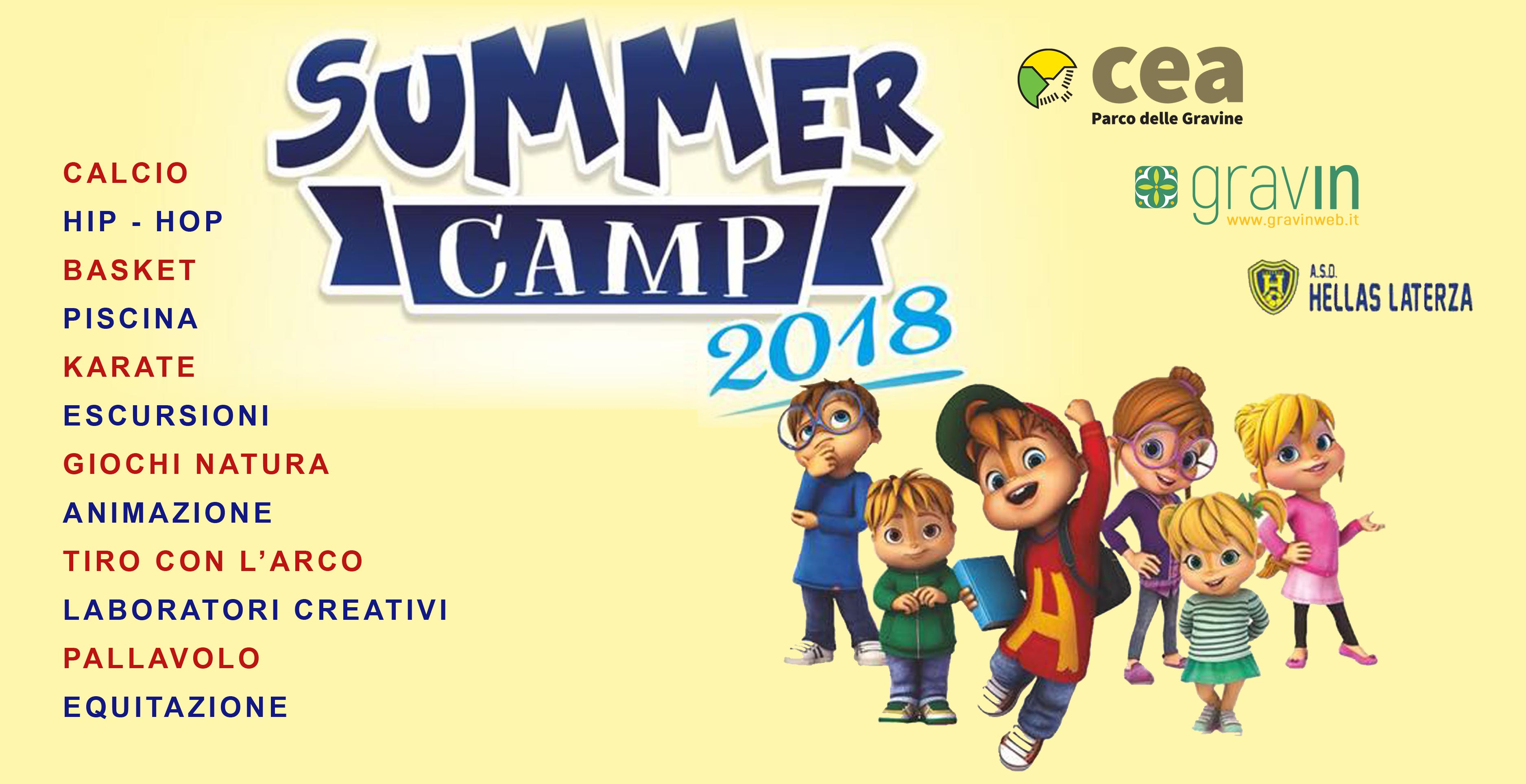 summer camp, campo scuola, terra delle gravine, gravina di laterza, hellas laterza, cea laterza, estate 2018
